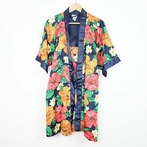 Floral Kimono Style Robe | Medium